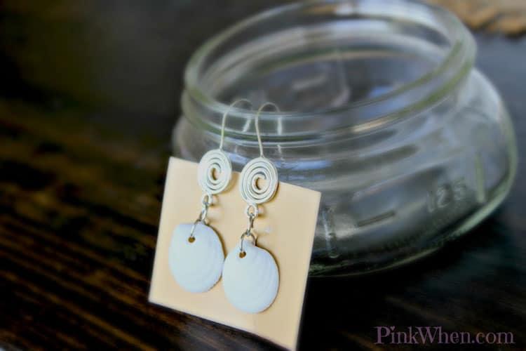 Pink When- Seashell Earrings