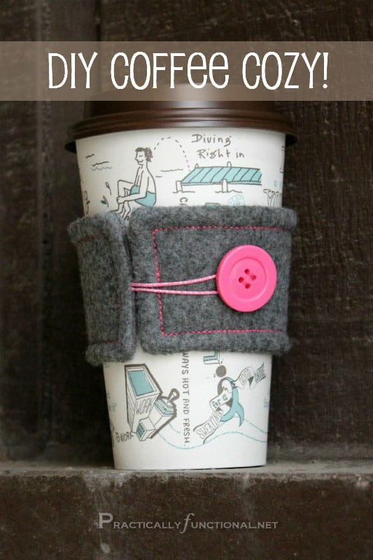 Practically Functional- DIY Coffee Cozy