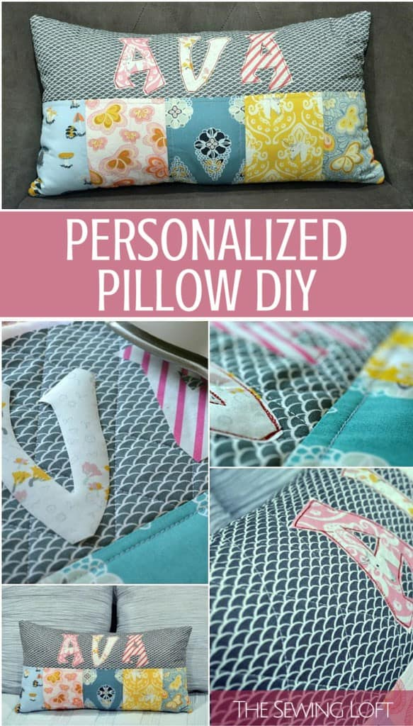 DIY Personalized Pillow- The Sewing Loft