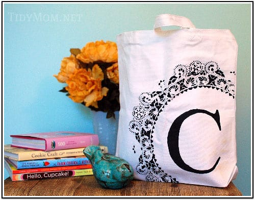 Monogram Stenciled Bag- Tidy Mom