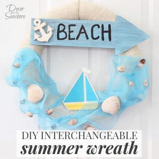 DIY Interchangeable Summer Wreath
