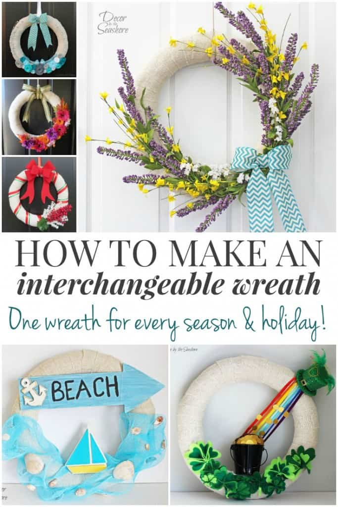 Make an interchangeable wreath and just use the same