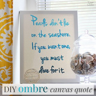 DIY Ombre Canvas Quote Tutorial