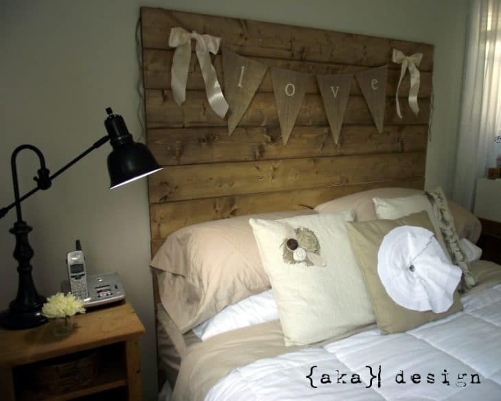 DIY Reclaimed Wood Headboard- AKA Design