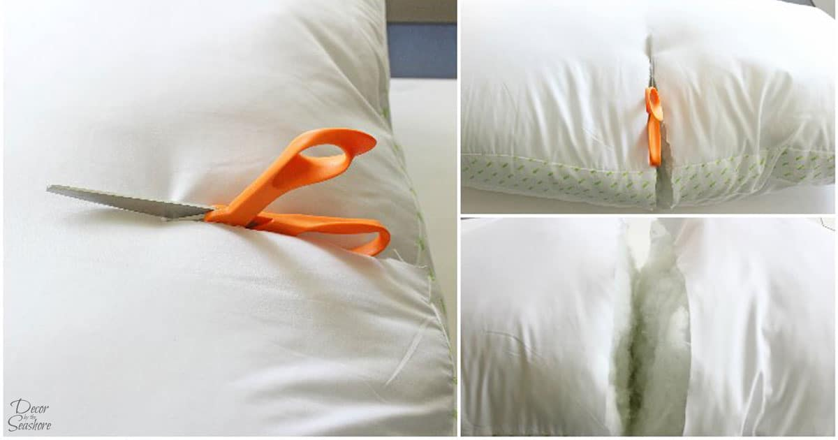How to Turn a Bed Pillow into Throw Pillows DIY Throw Pillows