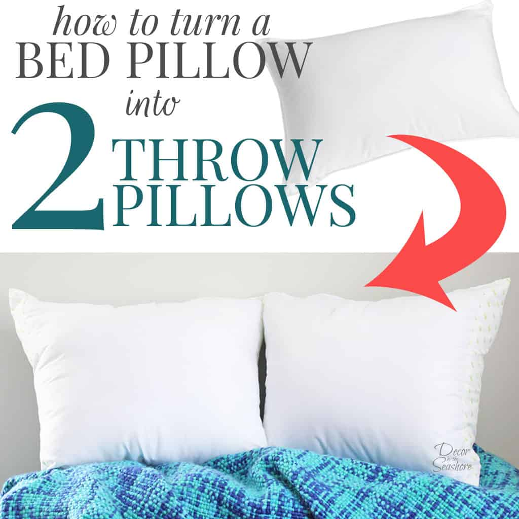 How to Turn a Bed Pillow into Throw Pillows