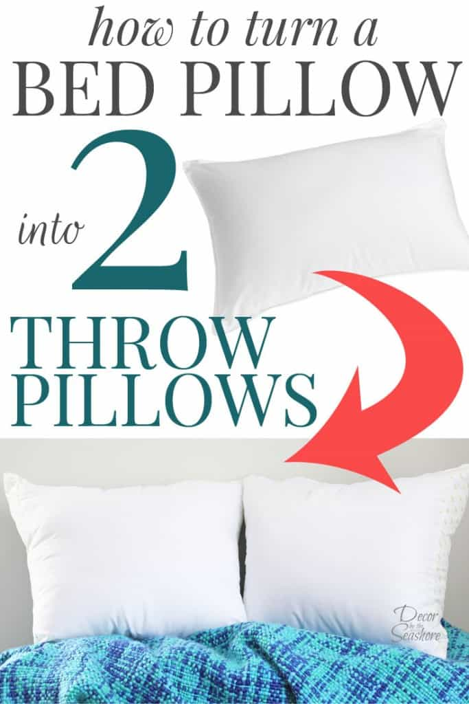 how to turn a bed pillow into throw pillows | diy throw pillows Making Cushions and Pillows