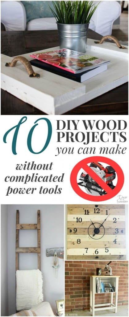I had no idea it was so easy to craft with wood. You'd NEVER guess that you can make these amazing DIY wood projects without any fancy power tools! I just love that natural wood look in my home decor. I am definitely going to try my hand at a few of these gorgeous wood crafts! | decorbytheseashore.com