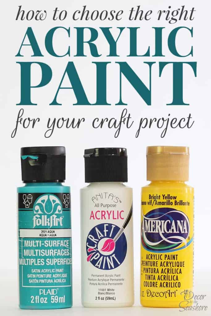 How To Choose The Right Acrylic Paint For Your Craft Project
