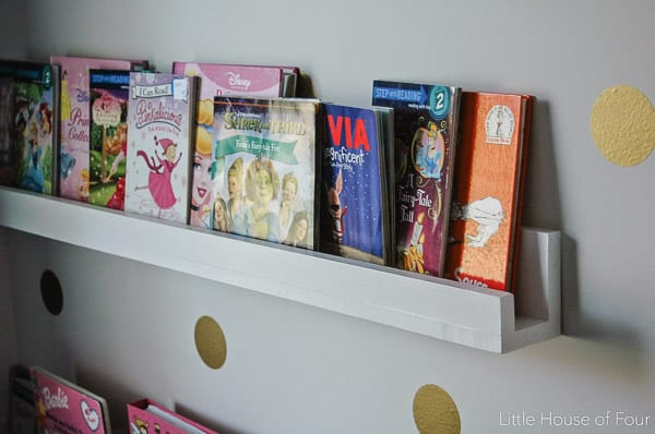 DIY Wood Bookshelves- Little House of Four