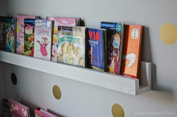 DIY Wood Bookshelves- Little House of Four