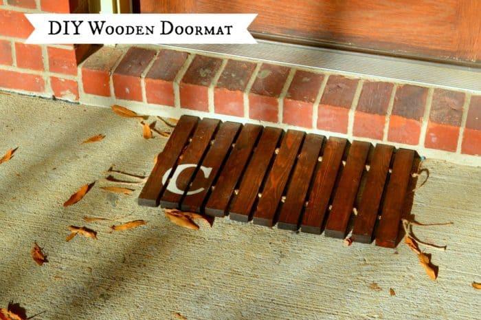 DIY Wooden Doormat- Little Red Brick House