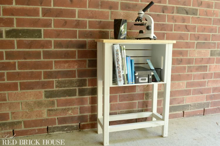 DIY Wooden Crate Storage Table- Little Red Brick House