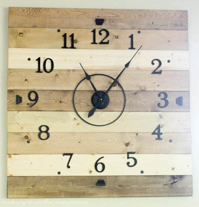 Rustic DIY Clock- Making it in the Mountains