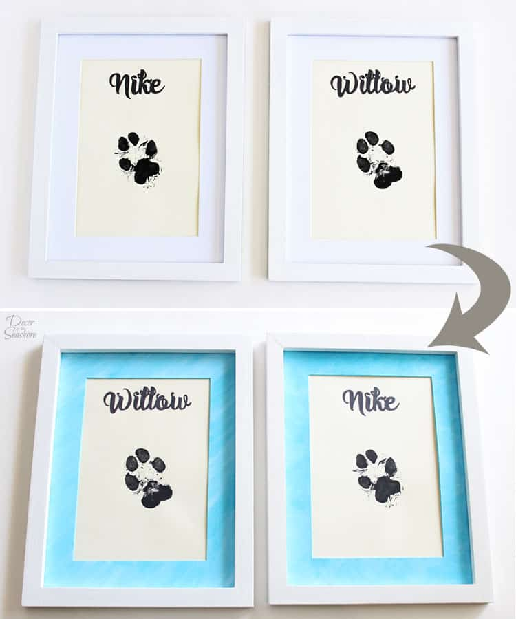 Watercolor-Picture-Frame-Mat-Before-After
