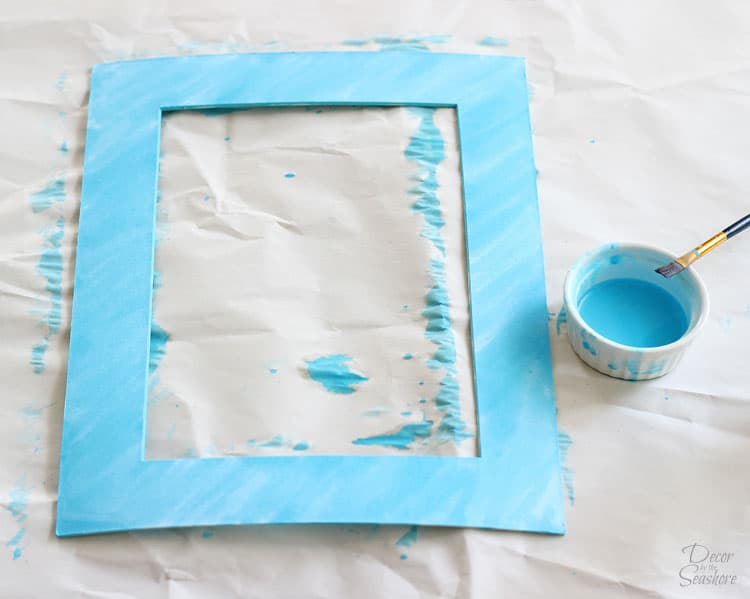 Diy Watercolor Picture Frame Mat How To Watercolor A Frame Mat