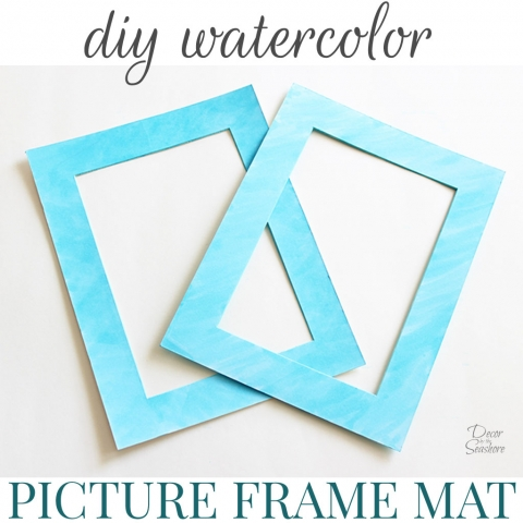 How to Watercolor a Picture Frame Mat
