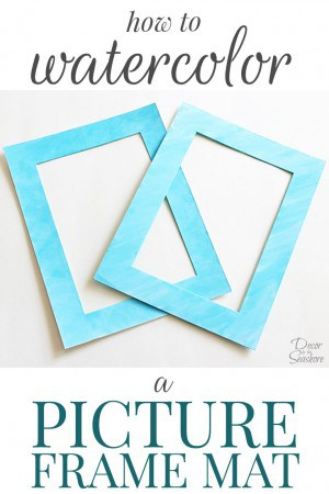 I just LOVE these gorgeous watercolor picture frame mats! This is the perfect way to add a pop of color to those plain picture frame mats! The best part is, you can seriously make these in less than 5 minutes! Such a quick and easy way to spruce up your home decor. | decorbytheseashore.com