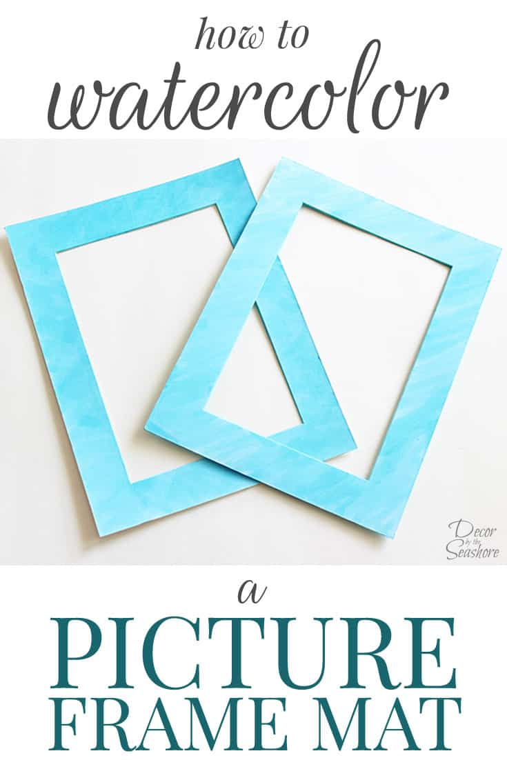 DIY Watercolor Picture Frame Mat | How to Watercolor a Frame Mat