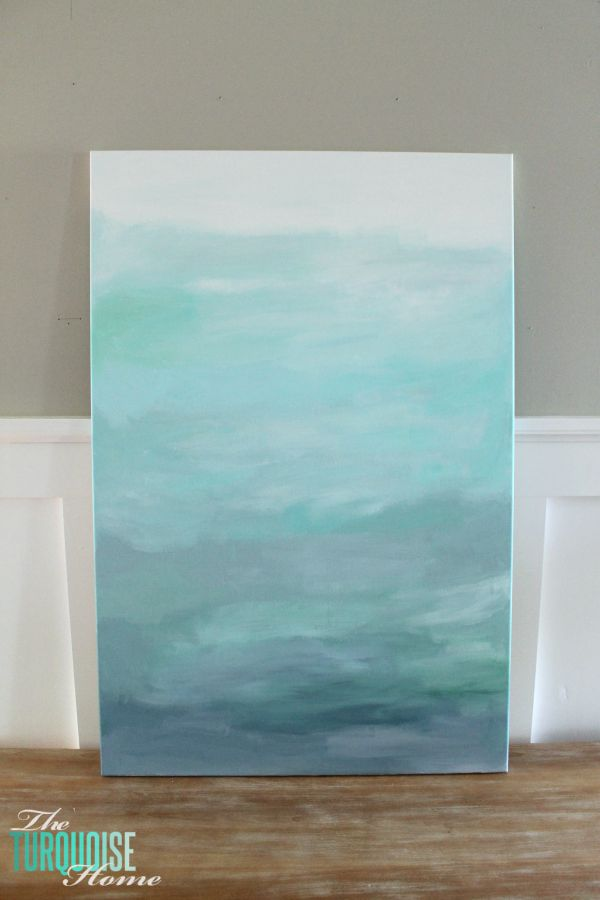 Abstract canvas art- The Turquoise Home