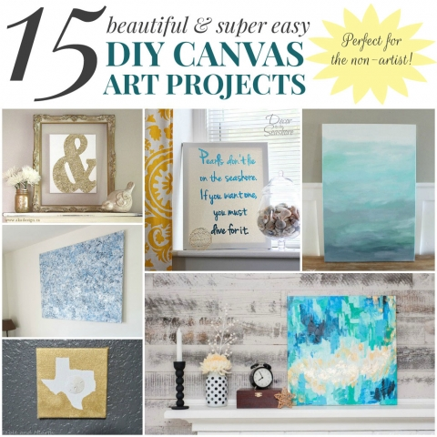15 DIY Canvas Art Projects for the Non-Artist