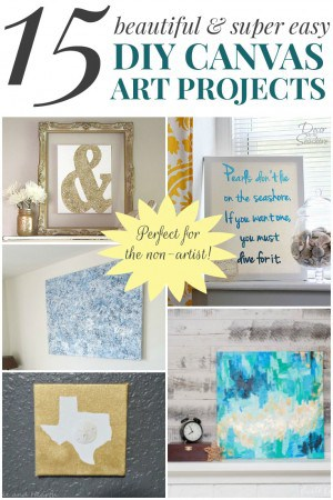 These DIY canvas art projects are so super easy, you'd never guess you don't need to be an artist to make them! What a perfect way to add some art to your home without breaking the bank! | decorbytheseashore.com