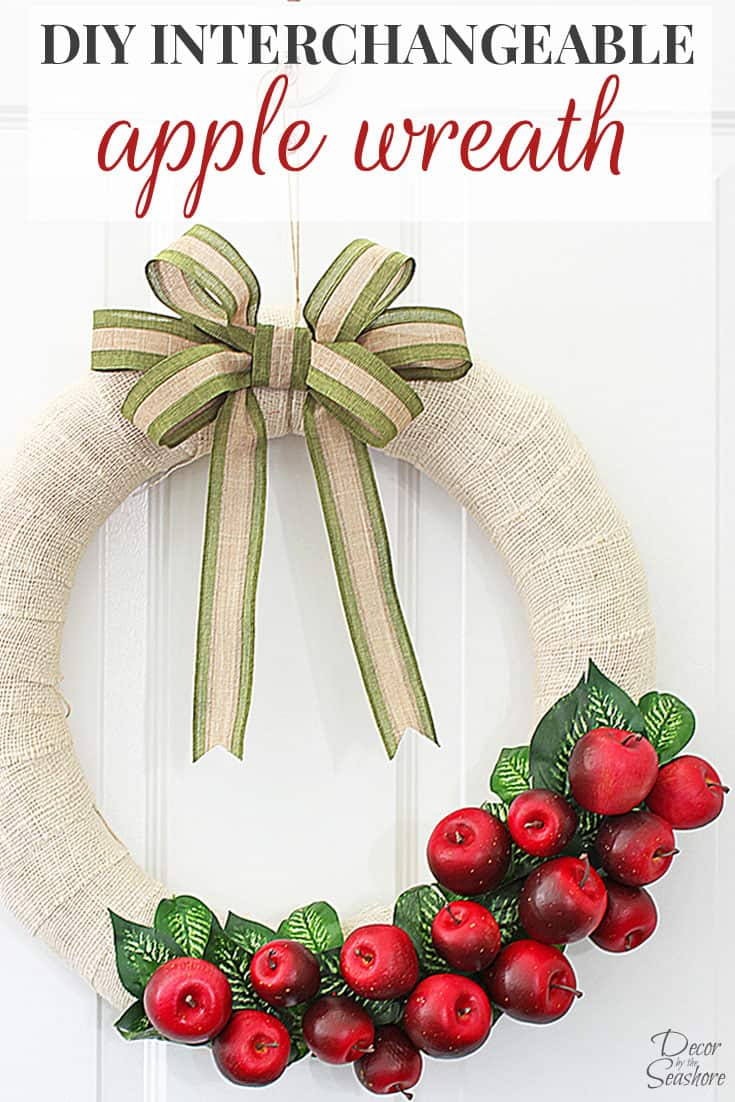 This super cute fall apple wreath is so easy to make! It's the perfect DIY