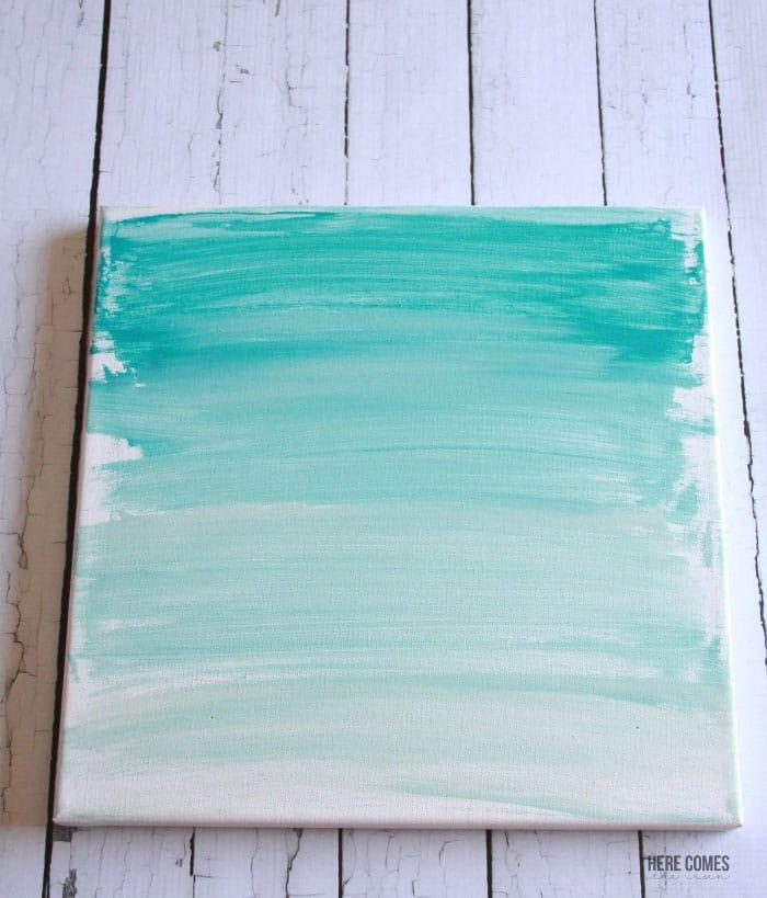 Ombre canvas art- Here Comes the Sun