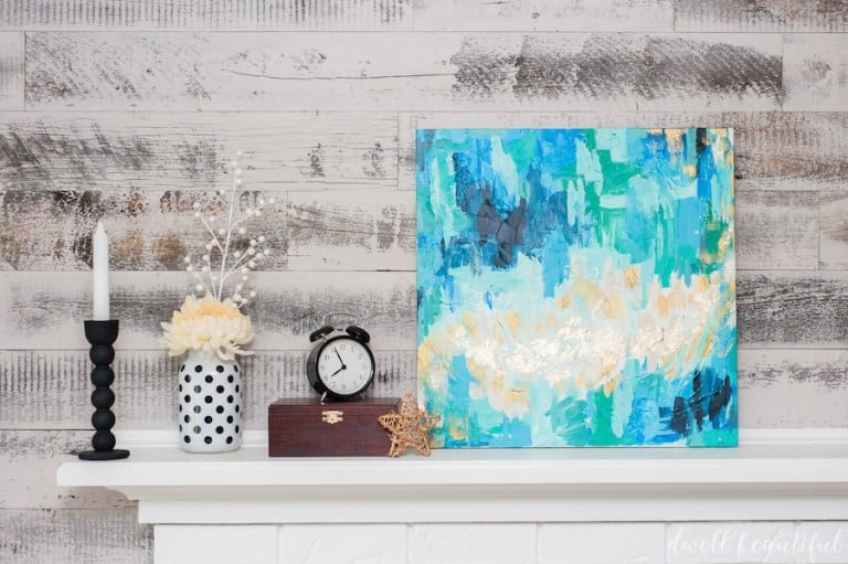 DIY abstract canvas art- Dwell Beautiful