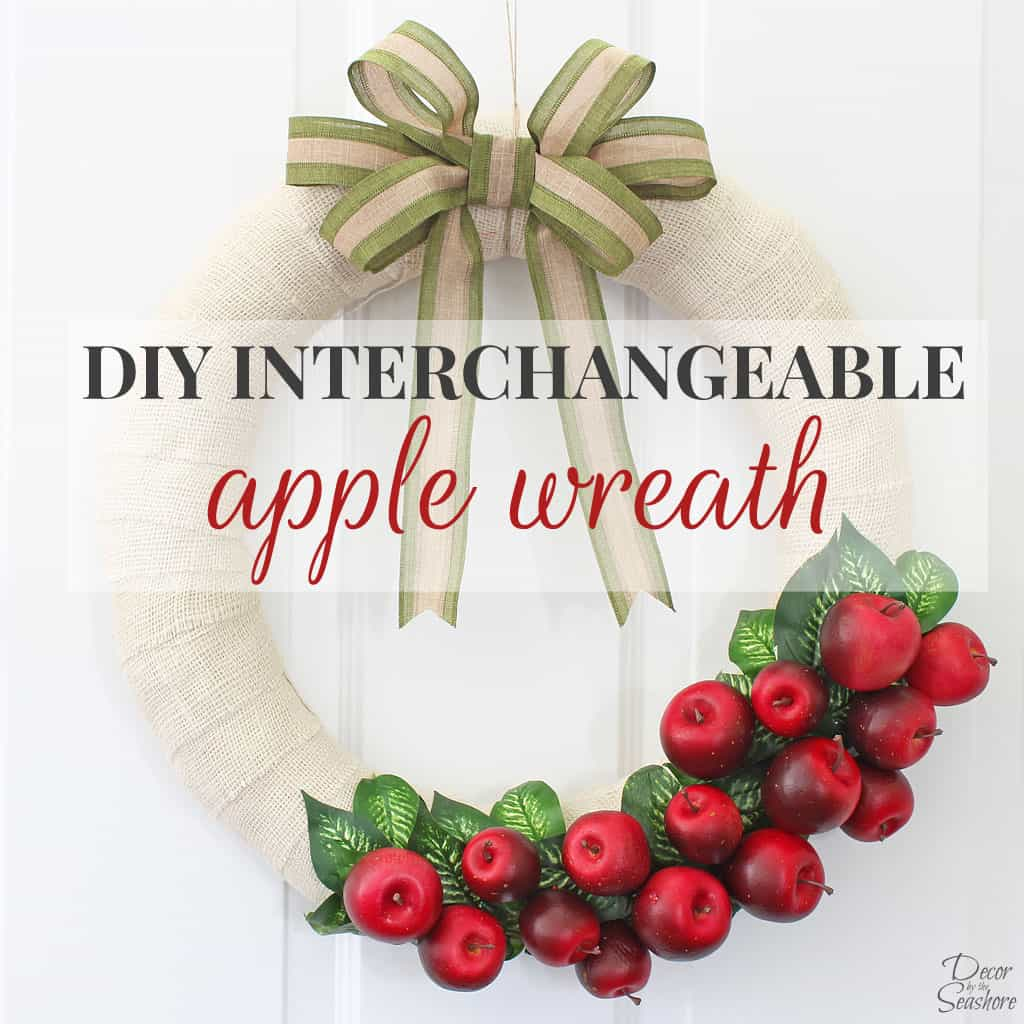 DIY Interchangeable Fall Apple Wreath
