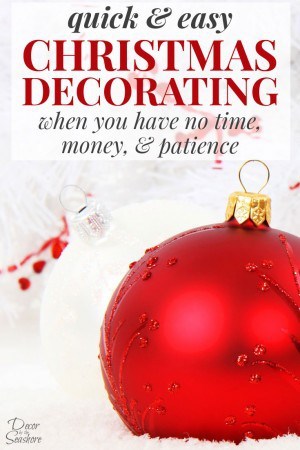If you're pressed for time and money, these easy Christmas decorating ideas will help you decorate for Christmas in no time! This is so helpful for getting your home decorated for Christmas in record time! | decorbytheseashore.com