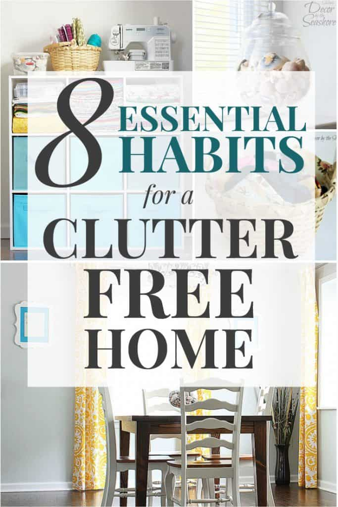 Does decluttering your home feel like an impossible goal? It's actually much easier than you think! These simple steps are ESSENTIAL to creating a clutter-free home! Use these decluttering tips and ideas to organize your home once and for all! | decorbytheseashore.com