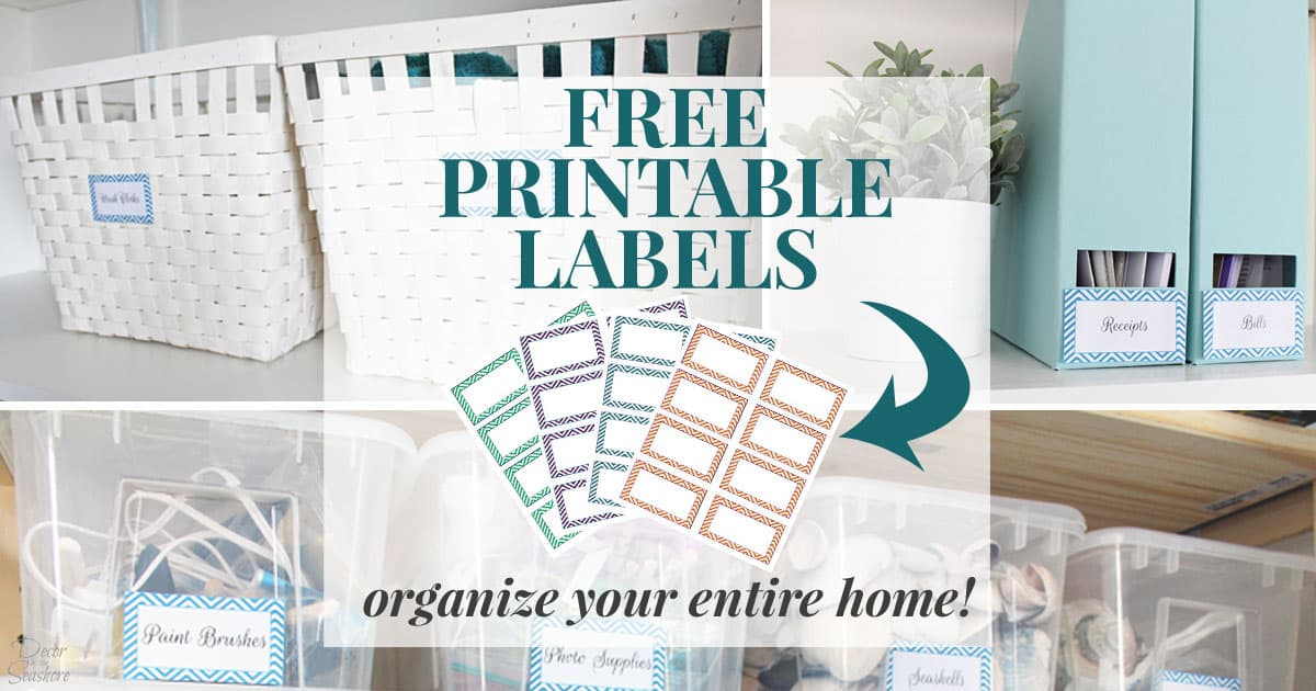 image relating to Free Printable Organizing Labels named Cost-free Printable Labels toward Prepare Your Total Dwelling No cost