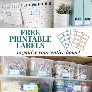 Free Printable Labels to Organize Your Entire Home