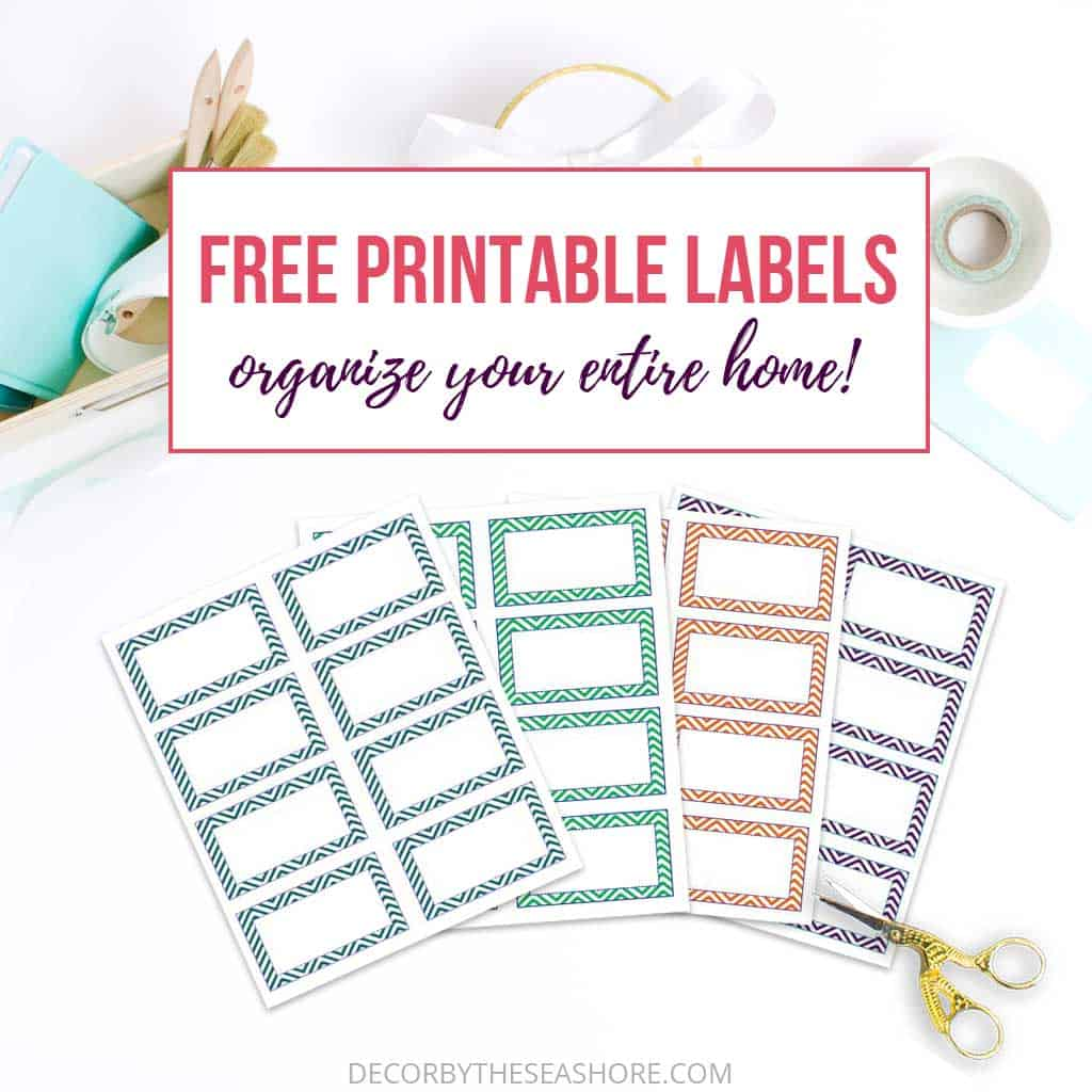 photograph relating to Free Printable Organizing Labels named Totally free Printable Labels in the direction of Prepare Your Comprehensive House Totally free