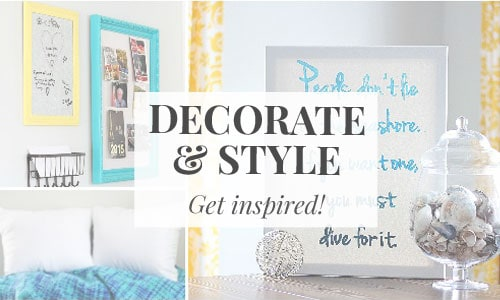 Decorate and style your home with these helpful tips!