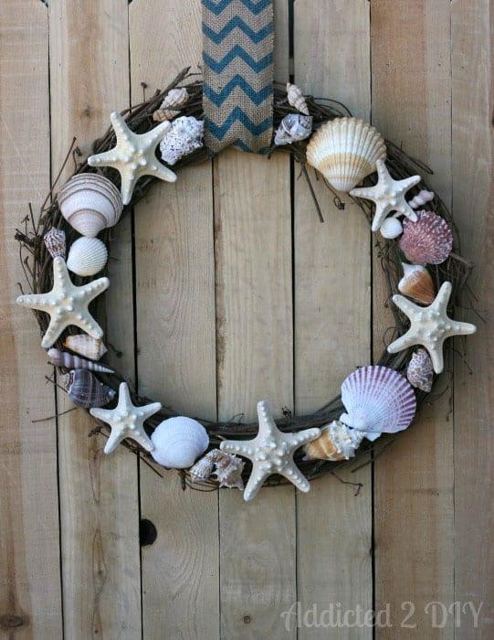Addicted 2 DIY- Seashell Wreath