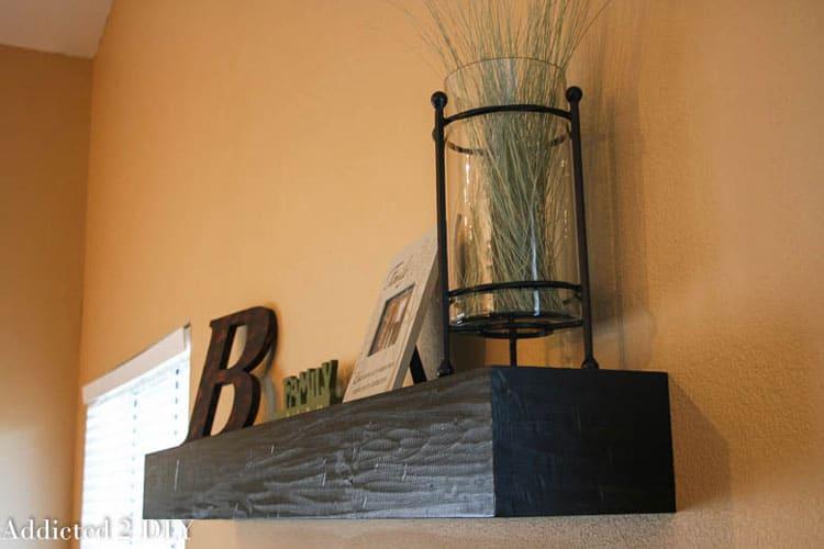 Addicted 2 DIY- Distressed Wood Shelf
