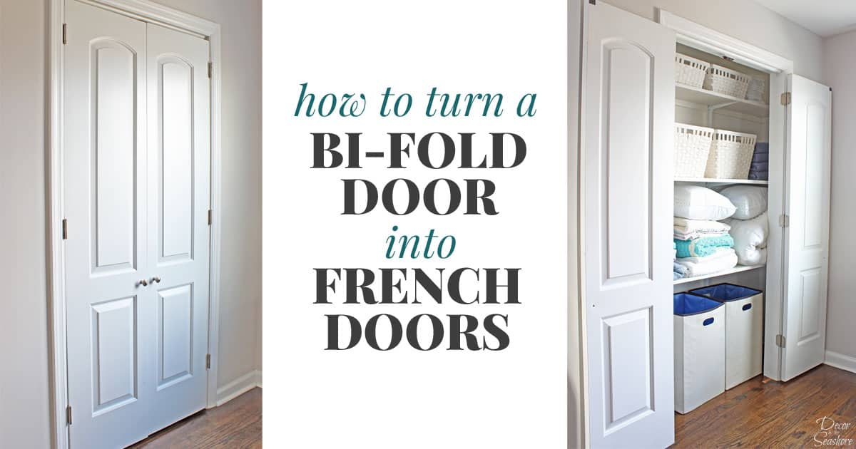 & How to Turn a Bi-Fold Door into French Doors | DIY Closet Door Makeover