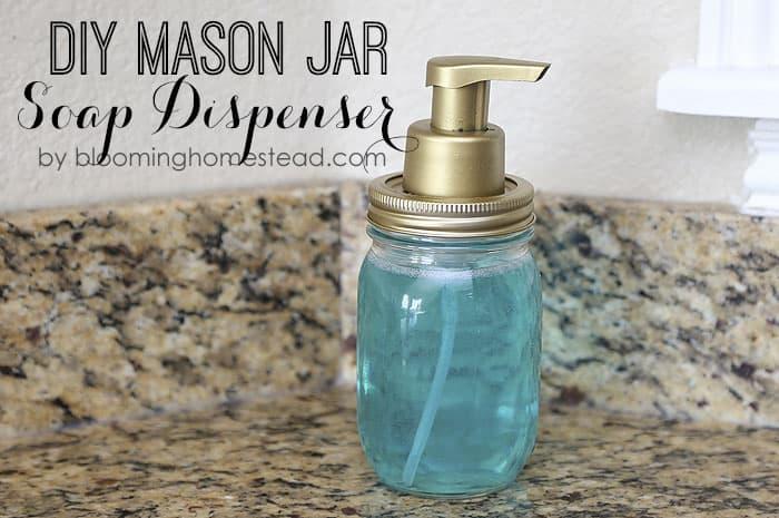 Mason Jar Soap Dispenser from Blooming Homestead