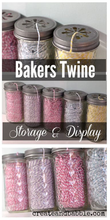 Bakers Twine Mason Jars from Create and Babble