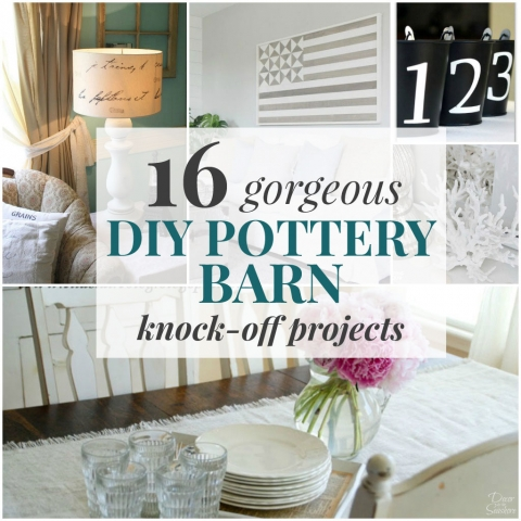 16 Gorgeous DIY Pottery Barn Knock-Off Projects