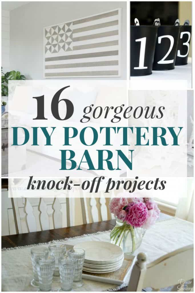 These gorgeous DIY Pottery Barn knock-offs are the perfect addition to your home! Make your own DIY home decor for a fraction of the cost with these easy, budget-friendly knock-off projects! | decorbytheseashore.com