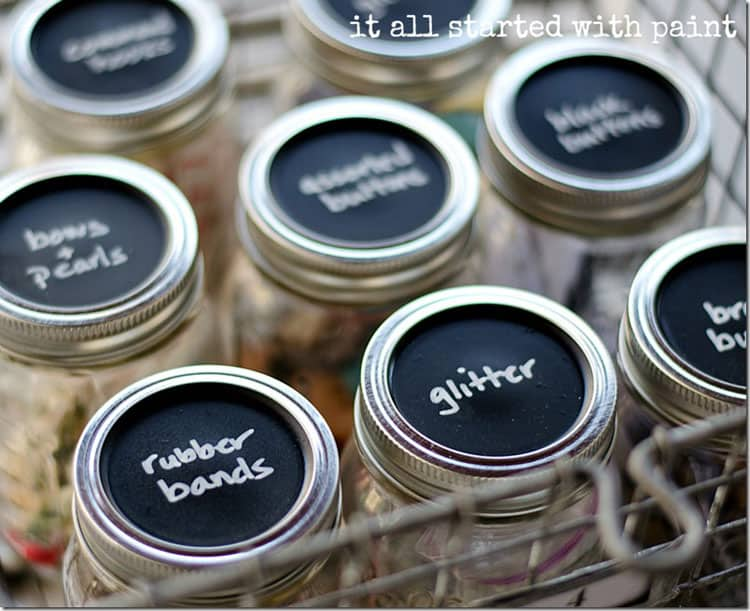 Mason Jar Craft Storage from It All Started with Paint