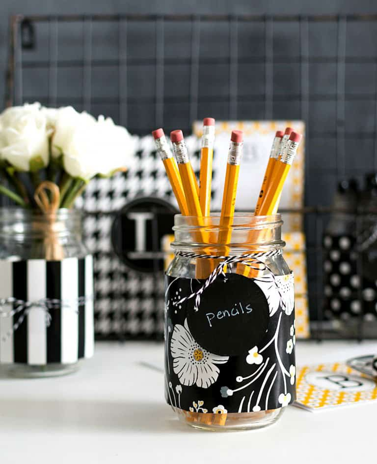 Mason Jar Desk Organizers from It All Started with Paint