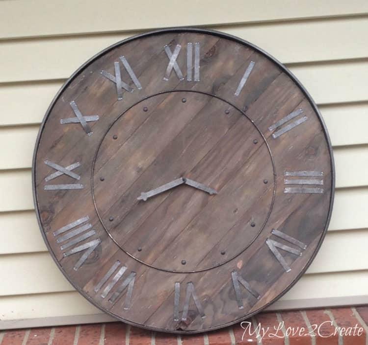 My Repurposed Life- Large Rustic Clock