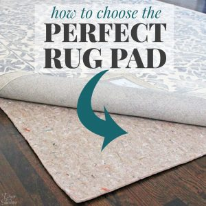 If your area rug slips and slides around, you need a good rug pad! Follow these easy steps to pick the perfect rug pad to protect your rug and floors! #ad | decorbytheseashore.com
