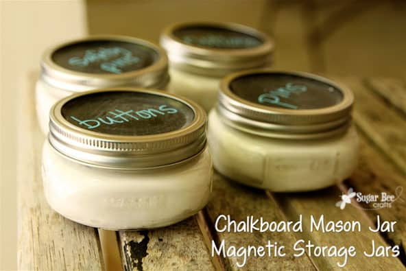 Magnetic Chalkboard Mason Jars from Sugar Bee Crafts