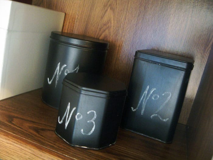 The Country Chic Cottage- Chalkboard Tins