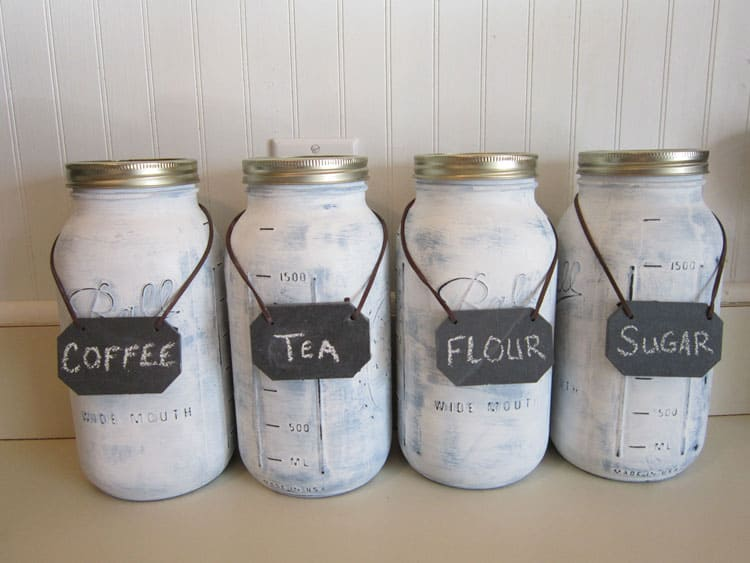 Mason Jar Food Canisters from The Honeycomb Home